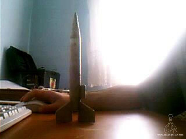 Gök-Türk 3 Model Roketi Boyasız