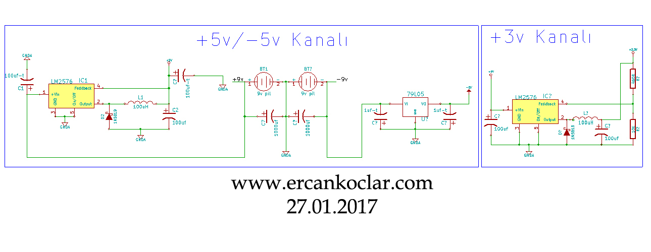 +5-5 GND 3,3v regulator-guncelleme