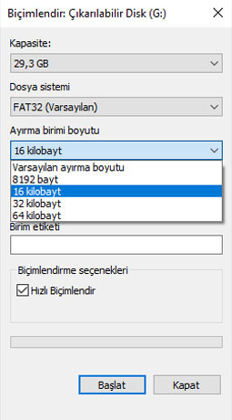 fat32-cluster-secimi