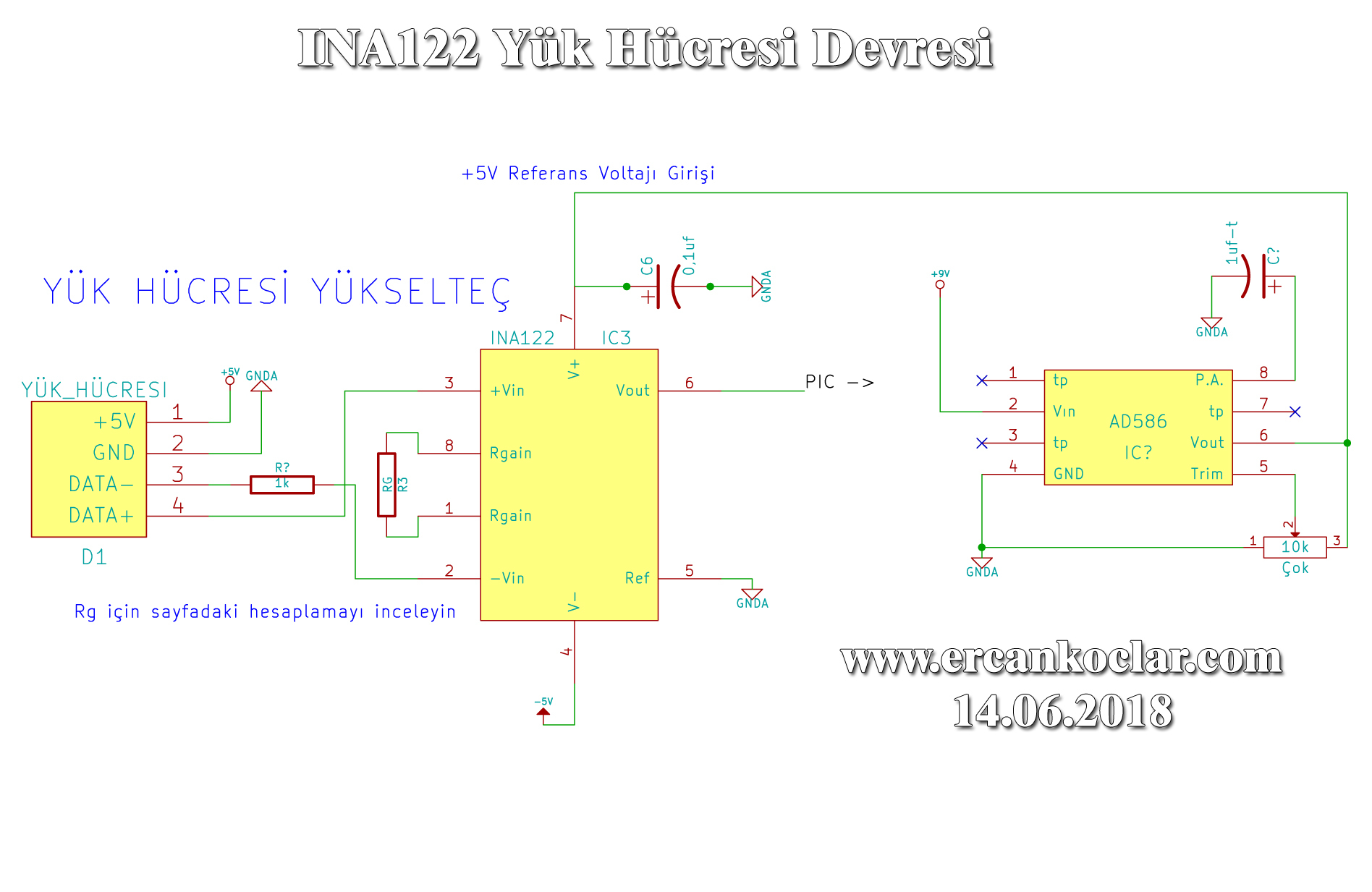 Using Load Cell With Ina122 Integration Ercan Kolar 4 Wire Wiring Diagram Circuit Scheme